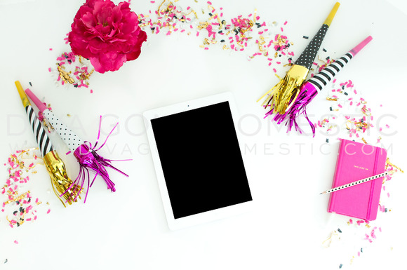 Styled Stock Photo Girly IPad Desk