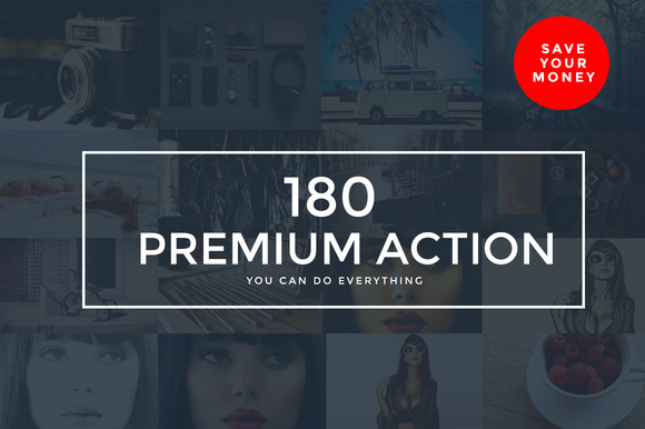 180 Premium Photoshop Action