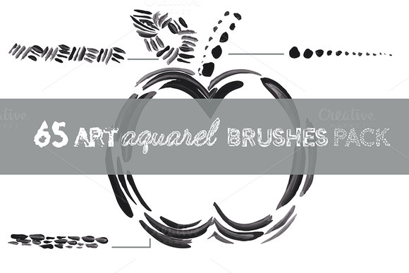 65 Art Aquarel Brushes Pack