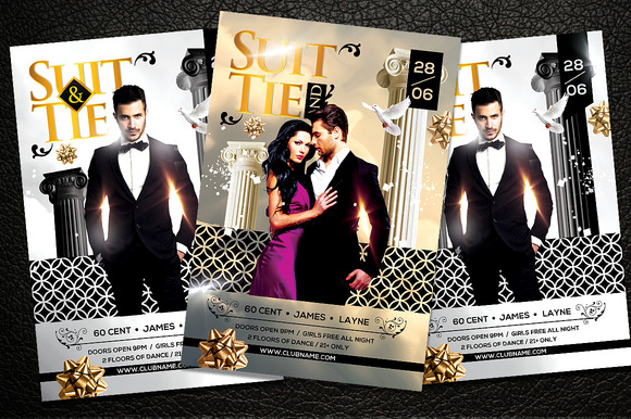 Suit And Tie Party Flyer