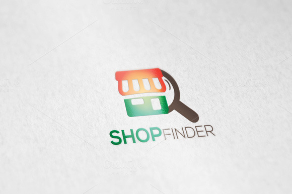 Ecommerce Shopfinder Logo Template