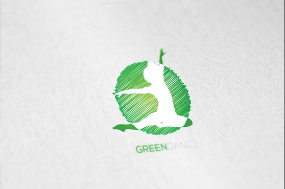 Dance Greendance Logo Template
