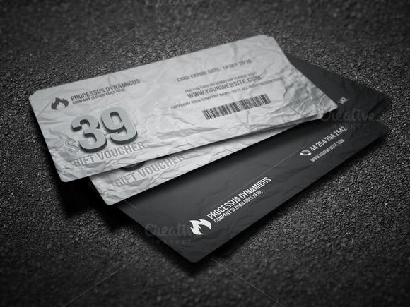 Gift Voucher Card Template