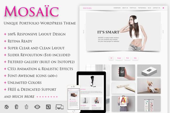 MOSAIC Unique Portfolio WP Theme
