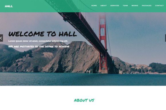 Hall One-Page Business Template