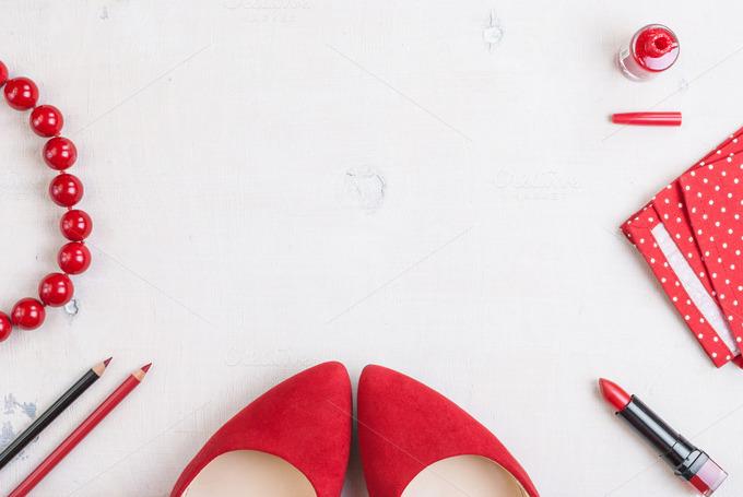 Feminine Glamour Cosmetic Background