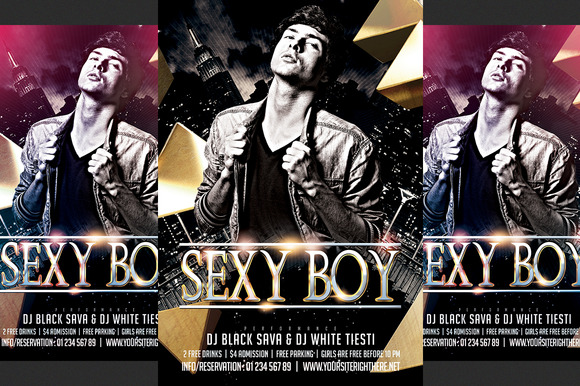 Sexy Boy Party Flyer