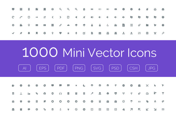 1000 Mini Vector Icons