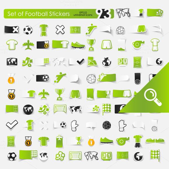 93 FOOTBALL Stickers