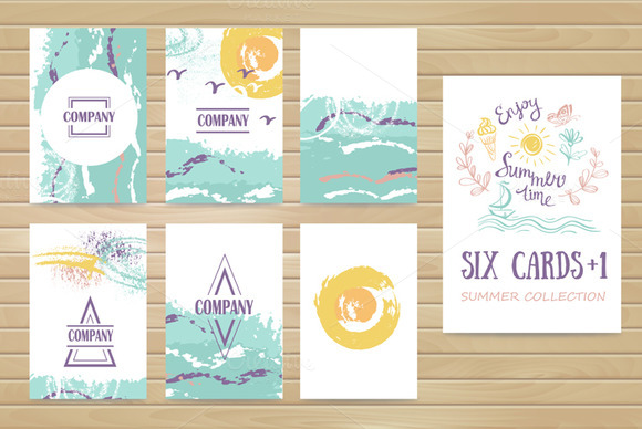 Summer Collection Six Pastel Cards