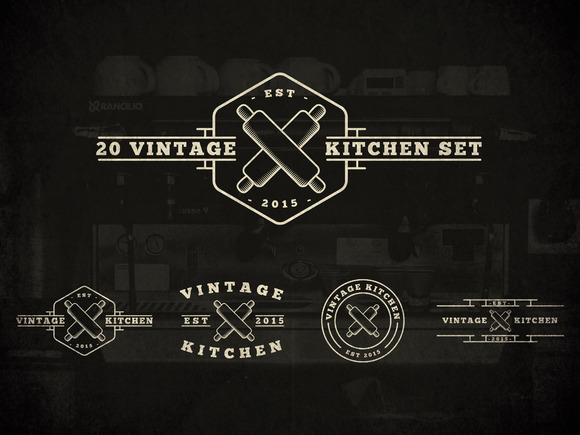 20 Vintage Kitchen Logos