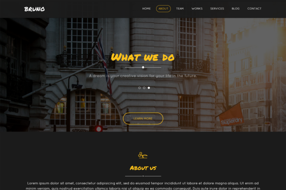 Bruno One-Page Business Template
