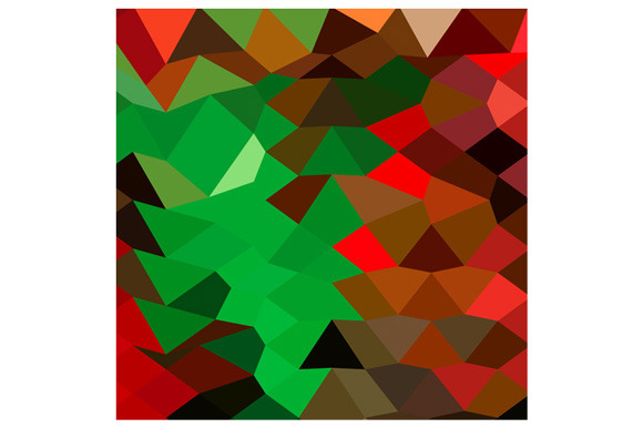 Bice Green Abstract Low Polygon Back