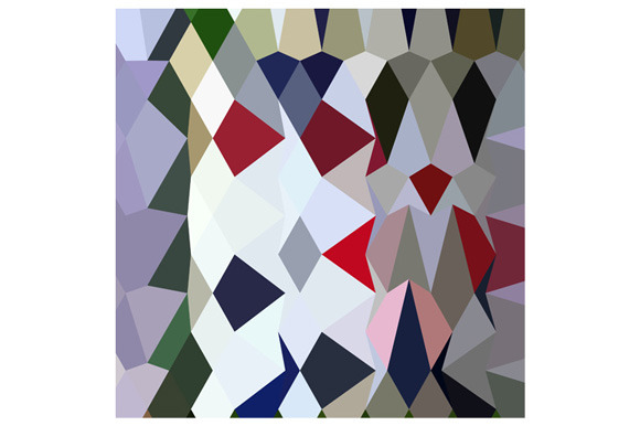 Bottle Green Abstract Low Polygon Ba
