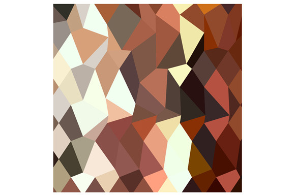 Burnt Sienna Abstract Low Polygon Ba
