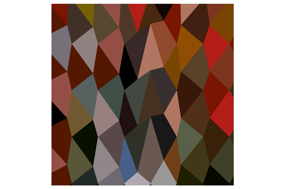 Burnt Umber Abstract Low Polygon Bac