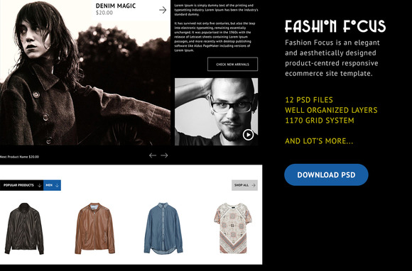 Fashion Focus ECommerce PSD