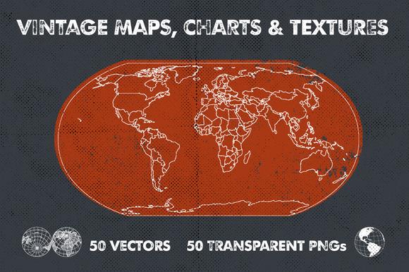 Vintage Maps Charts Textures