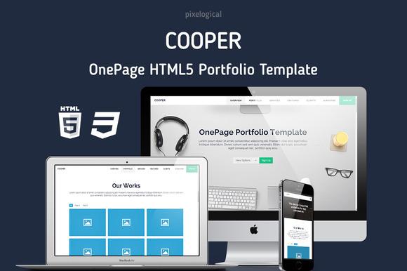 Cooper OnePage HTML5 Portfolio