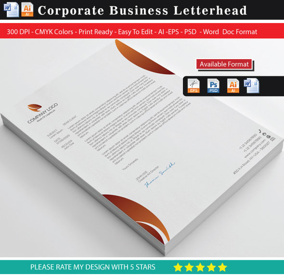 Modern Business Letterhead With Word