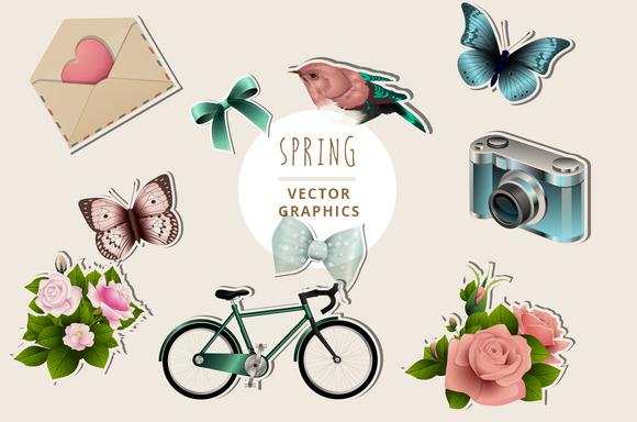 Spring Illustration Graphics