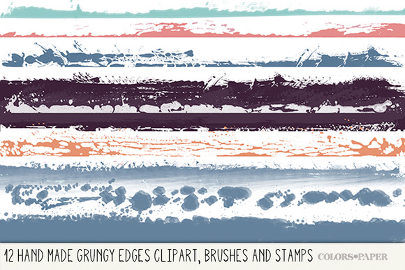 Handmade Grungy Edges Brushes Png