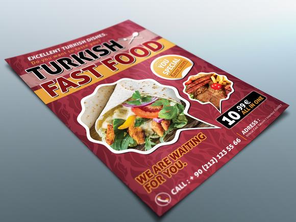 Turkish Food Flyer