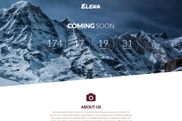 Elena Coming Soon Page