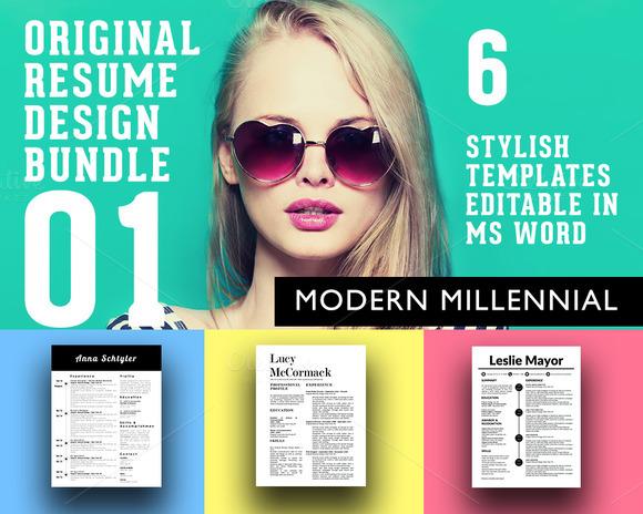 3 Stylish Resume Designs Bundle