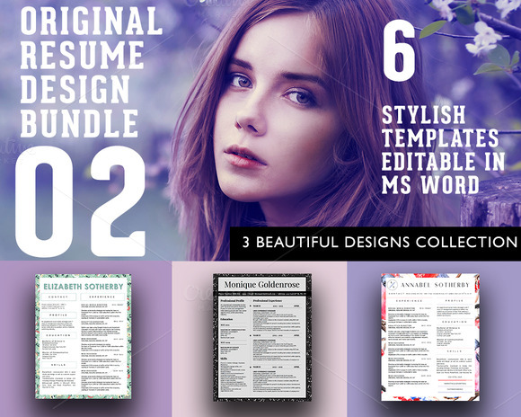 3 Beautiful Resume Designs Bundle
