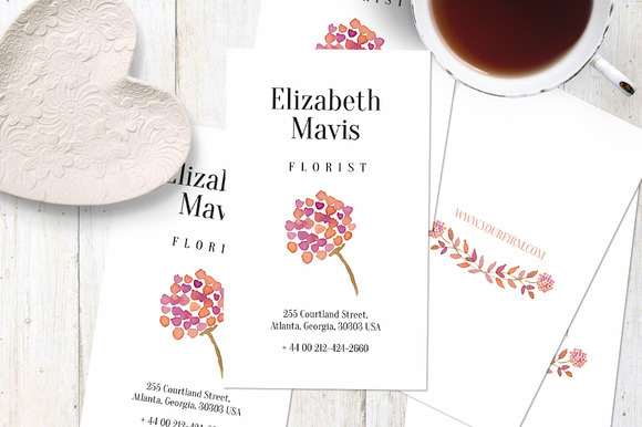 One Flower Business Card