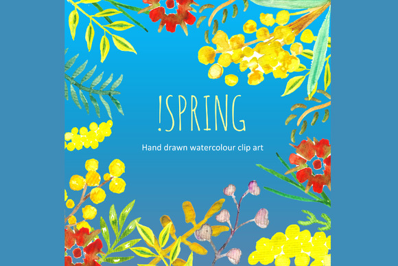 Spring Watercolor Clip Art