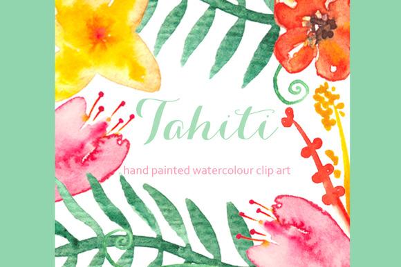 Tahiti Set Watercolor Clip Art