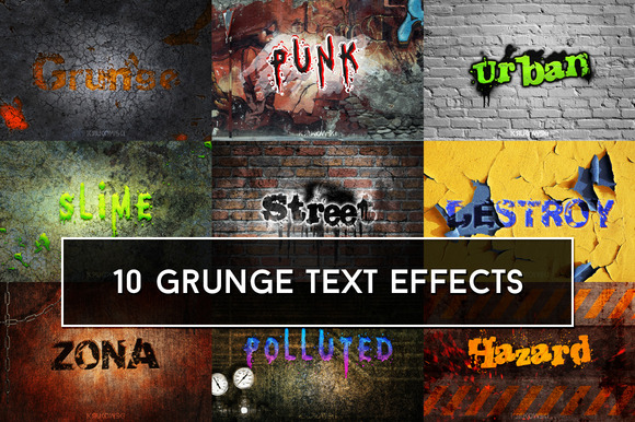 Grunge Text Effects