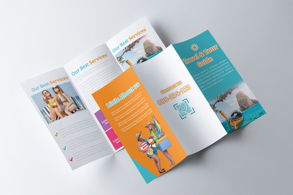 Tour Travel Guide Trifold Brochure