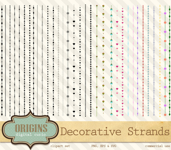 Decorative Strands Clipart