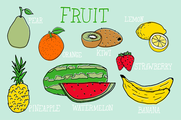 Fruit Vector Illustrations