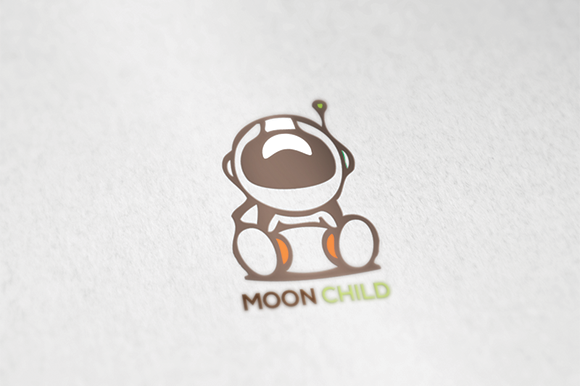 Space Moonchild Logo Template