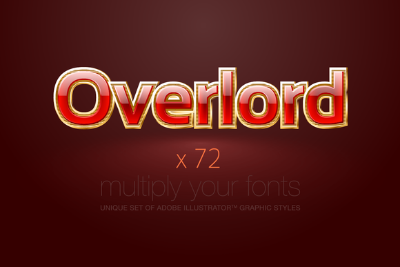 AI CS5 Graphic Styles Overlord