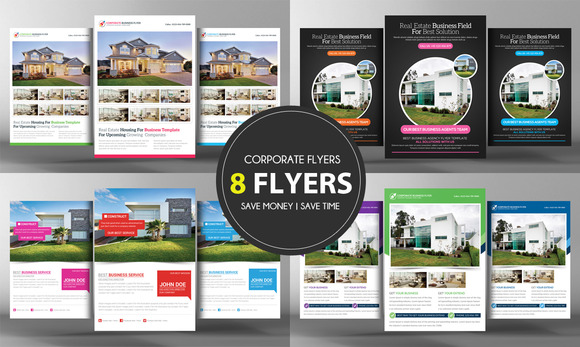 8 Real Estate Business Flyers Bundle