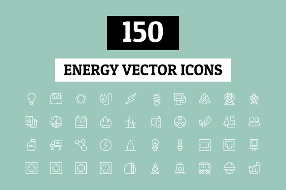 150 Energy Vector Icons