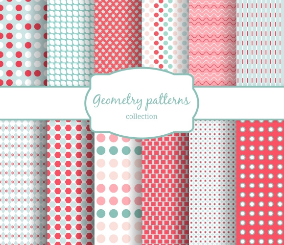 Abstract Geometric Seamless Patterns