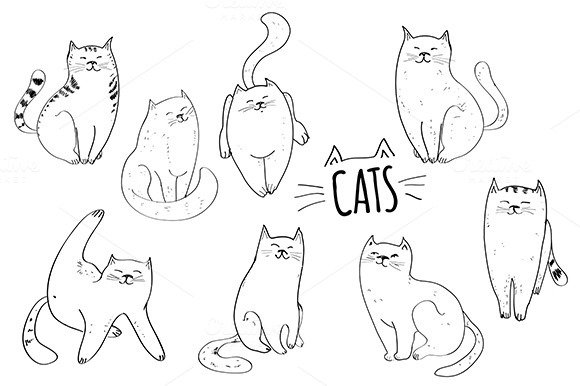 Cats Vector Set