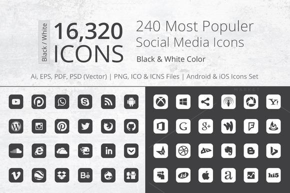 240 Round Corner B W Social Media