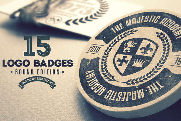 15 Logo Badges Round Edition