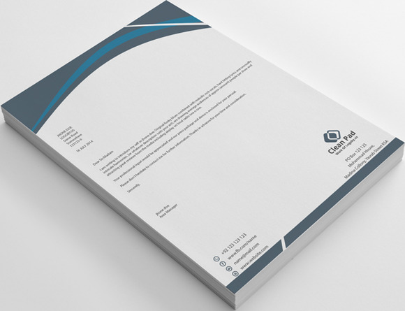 Clean Letterhead With Word Docx