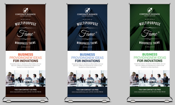 Cool Business Rollup Banner Template