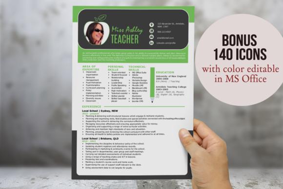 3 In 1 Modern Word Teacher Resume