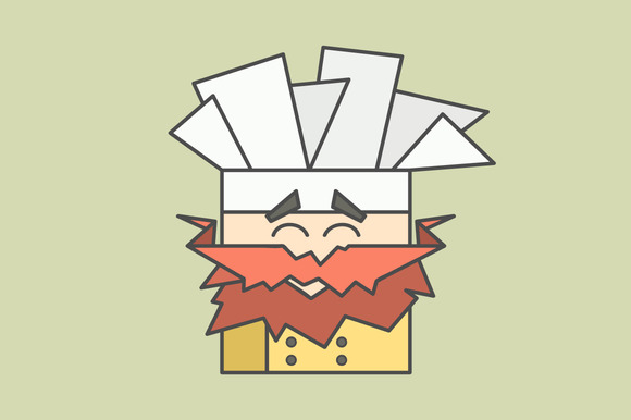 Cute Smiling Chef From Triangles