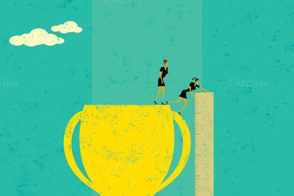 Businesswomen Measuring Success